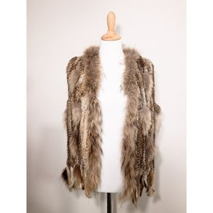 Jackets & Blazers - Genuine Fur Vest